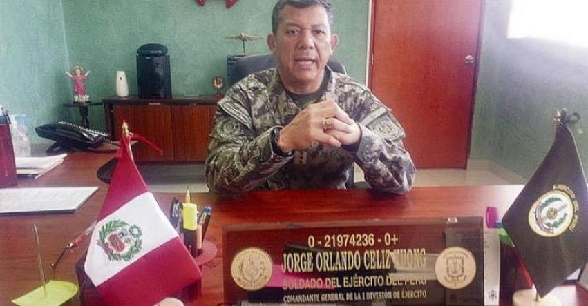 Retorno del Servicio Militar Obligatorio sería un buen aporte para la seguridad, sostiene Jorge Celiz Kuong. Comandante General de la I División del Ejército Peruano
