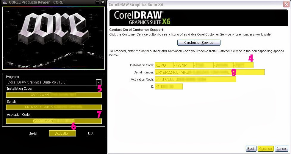 corel draw x6 activation