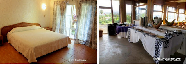 Apartamento do Tupa Hotel e salão do café da manhã, Hanga Roa, Ilha de Páscoa