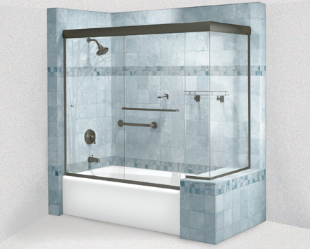 Cottage Series Sliding Shower Doors New York