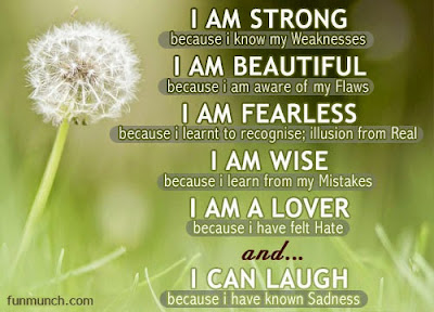 power of positive thinking quotes: i am strong because i know my weaknesses