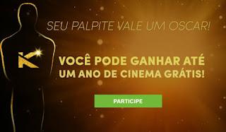 Promoção Palpite do Oscar no Kinoplex