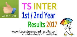 BIE Telangana 1st Year Intermediate Results 2017, bie.telangana.gov.in TS Inter Results 2017 Online, Telangana Jr Inter 1st Year Results 2017