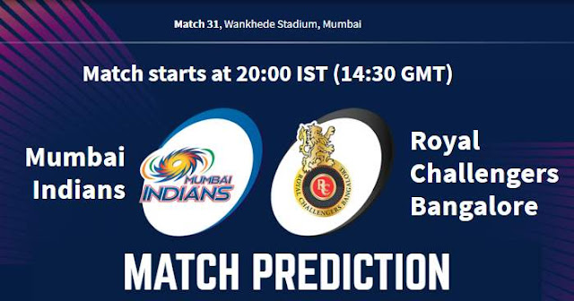 VIVO IPL 2019 Match 31 MI vs RCB Match Prediction, Probable Playing XI: Who Will Win?
