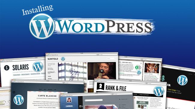 Intalation Wordpress