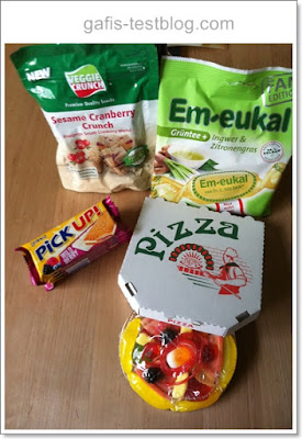 Sesam Cranberry Veggie Crunch, Pick up Wild Berry, Candy Pizza von Look o Look, Em Eukal Grüntee