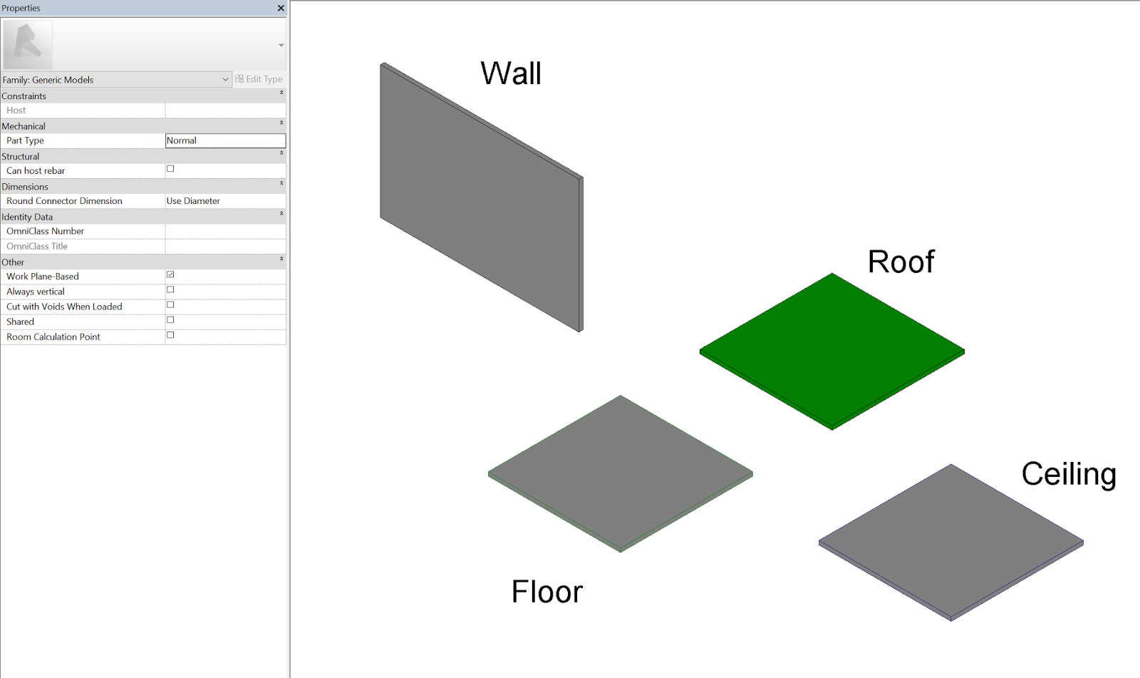 Convert Between Hosted Wall, Face, Ceiling, Floor, and Non