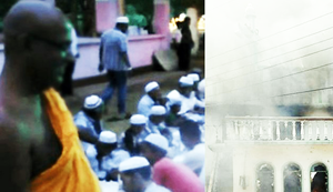 Buddhist monk who stayed back to protect Muslims when Menikhena mosque was to be set on fire