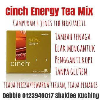 Cinch Energy Tea Mix - Elak Mengantuk Ketika Memandu