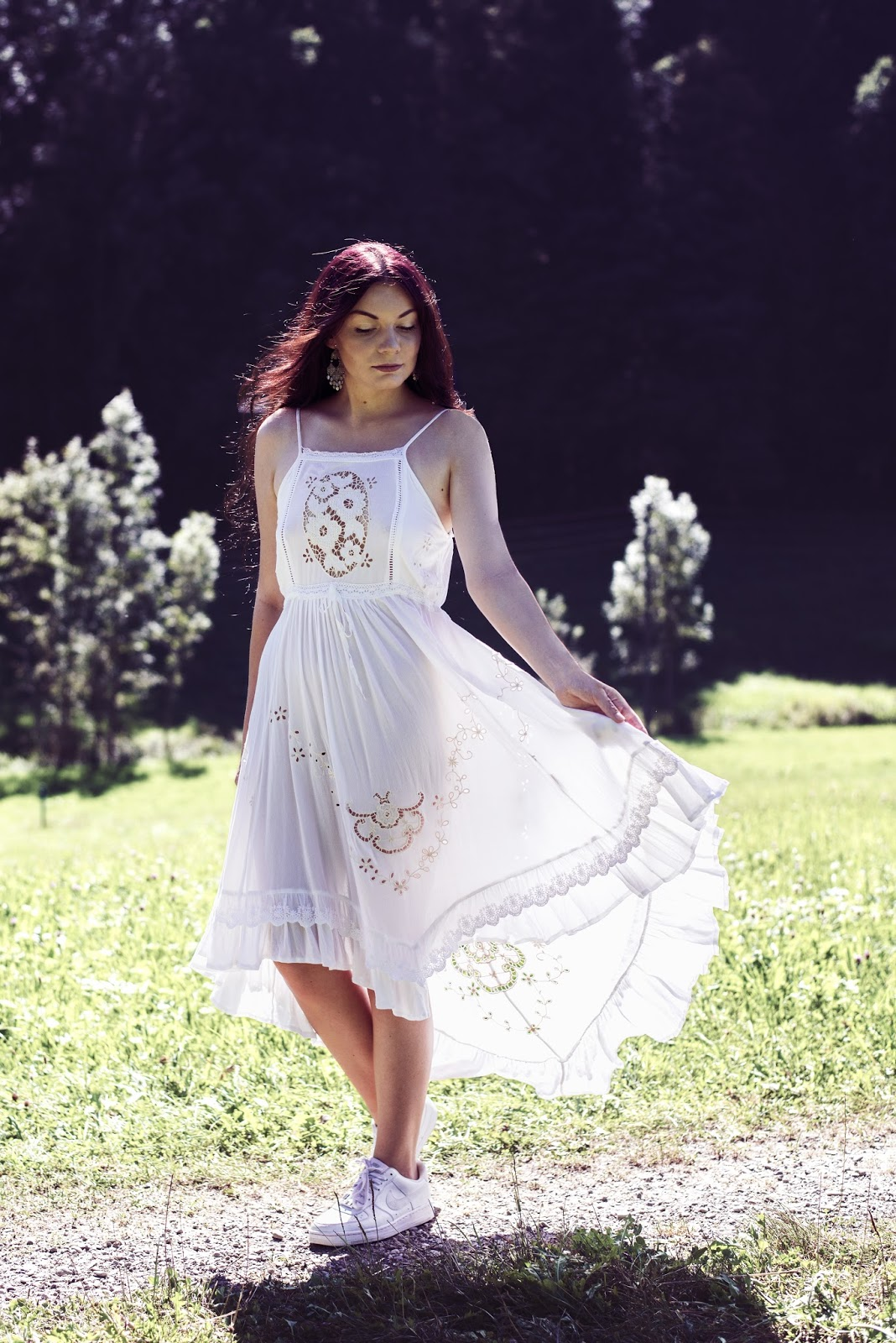 Spell Designs Isla Bonita Embroidered Dress | Rose Kiara Peaches