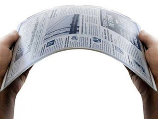 Gyricon flexible e-paper