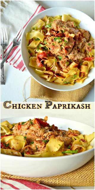 Chicken Paprikash is a celebrated Hungarian dish. It is also a traditional Jewish standard served  on Shabbat; though without sour cream. To me it is comfort food of  the finest caliber - See more at: http://www.thisishowicook.com #chickenpaprikash #chicken
