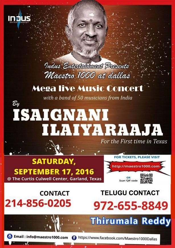 Ilayaraja live concert 2016 dallas