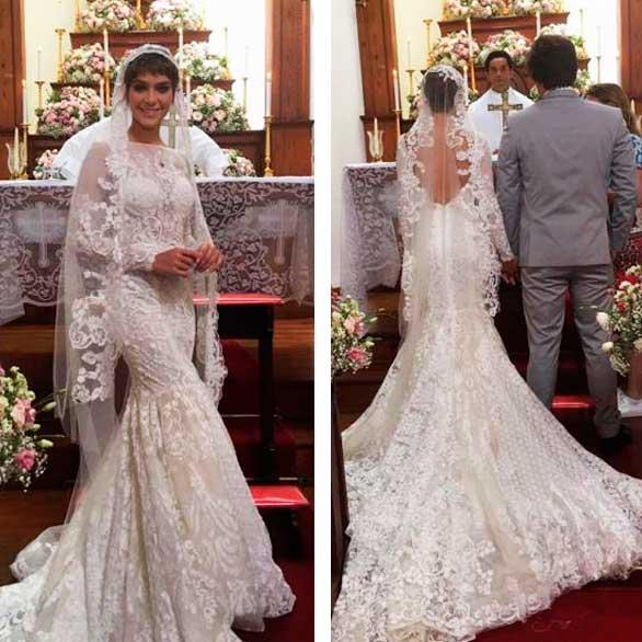 Vestido noiva sereia Leticia A lei do amor