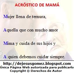 Imagen de fondo con el acróstico Mamá de Jesus Gómez