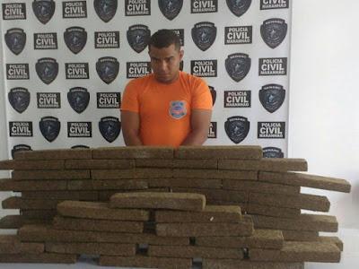Ex-militar é preso com 60 kg de maconha em Peritoró, MA