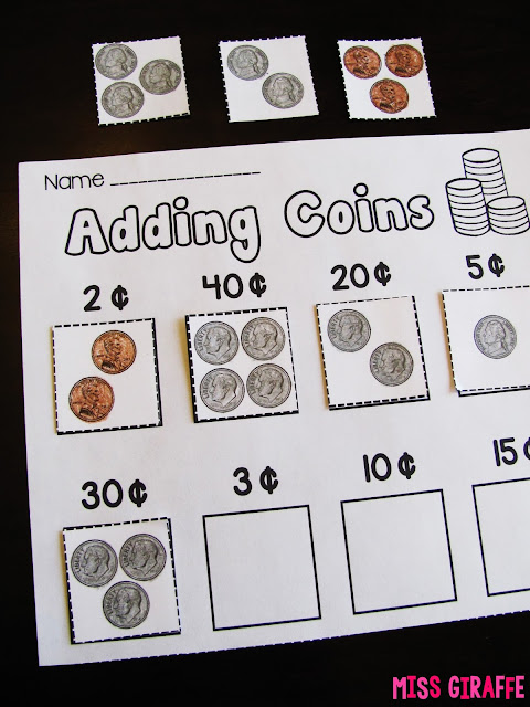 Adding coins worksheets and activities that turn making change into fun hands on games