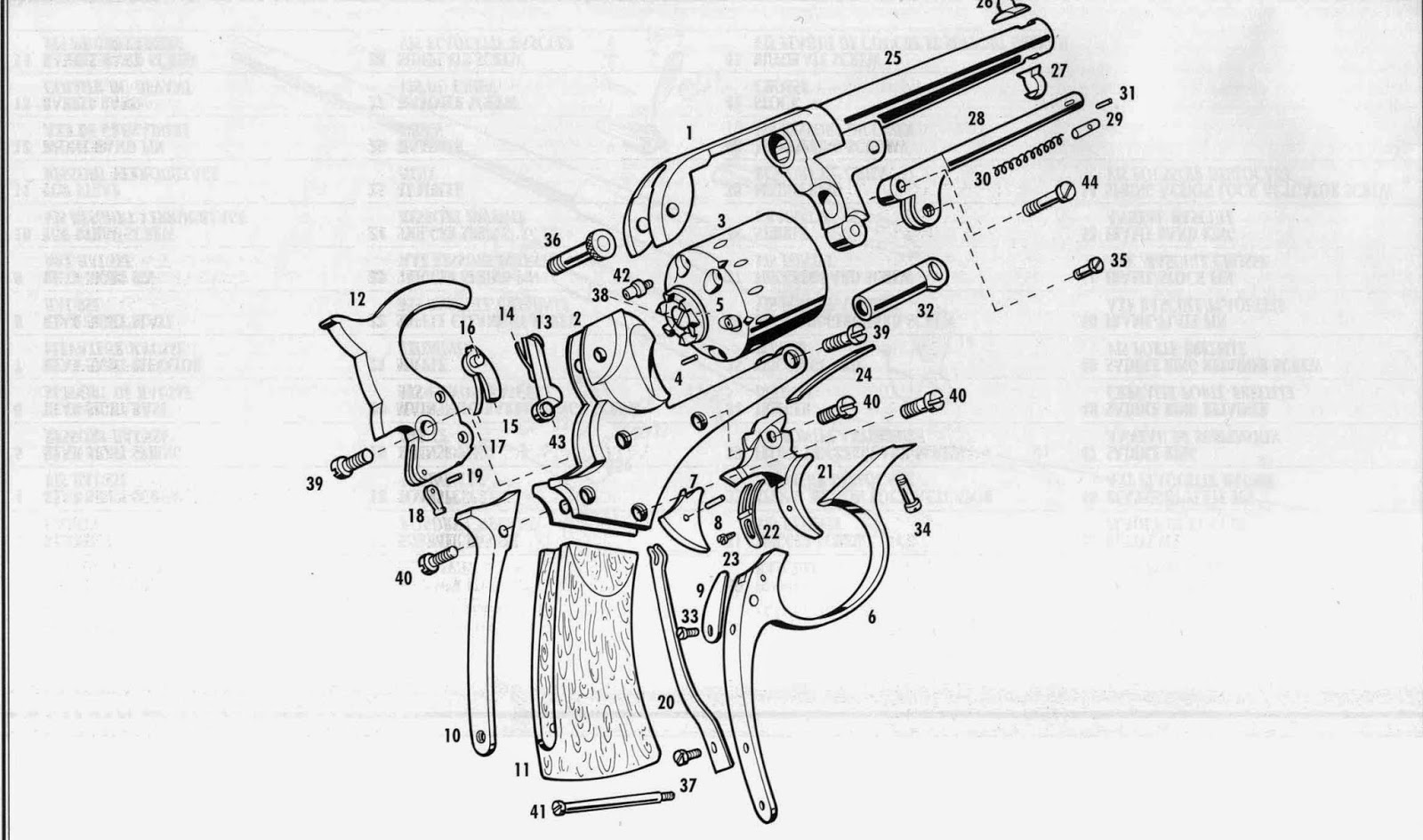shéma revolver Starr double action 1858