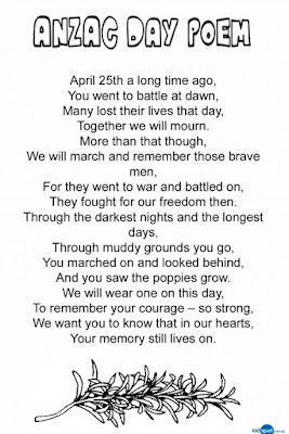 anzac day poems for anzac day 2017