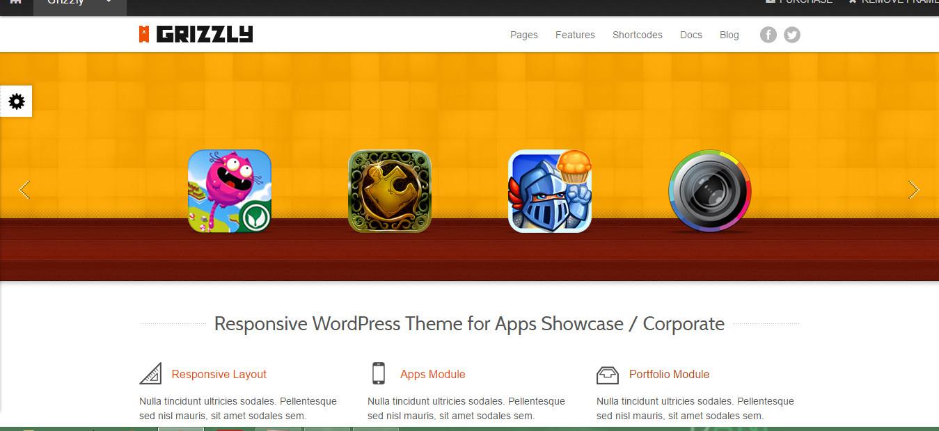 Responsive Wordpress theme for app showcase
