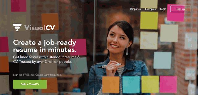 Cara Membuat CV Online dengan VisualCV.com