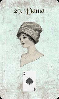carta de lenormand 29 mujer