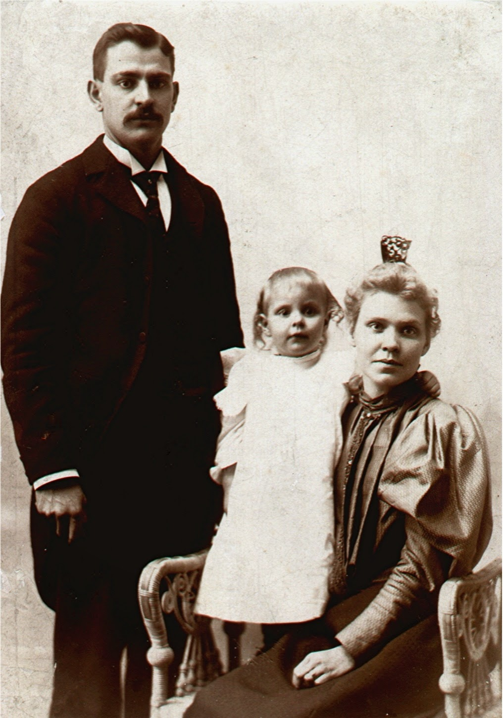 Frank, Ethel and Fannie Clark