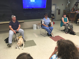 Laurel presenting for Bark Camp with Kimberly and Audrey