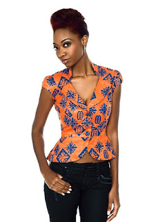 Beautiful Ankara Tops For Jeans For Ladies, ankara tops for jeans, stylish ankara tops, beautiful ankara designed tops for ladies on jeans, stylish ankara tops