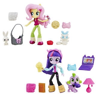 MLP Fluttershy and Twilight Sparkle Sleepover Equestria Girls Minis
