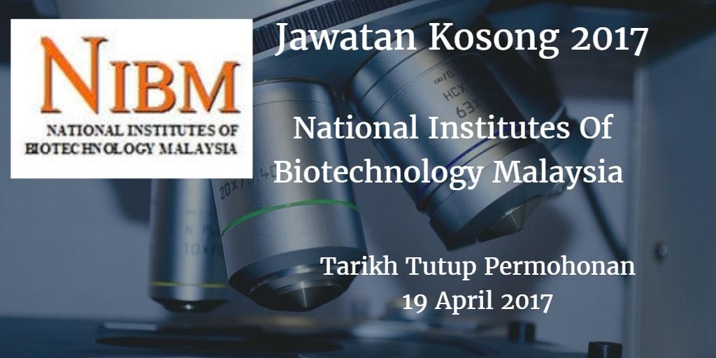 Jawatan NIBM 19 April 2017