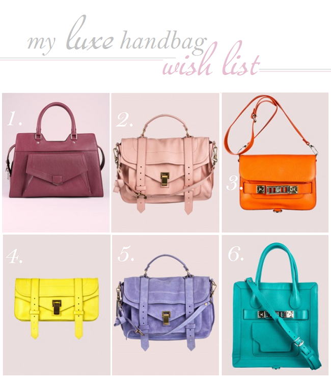 luxe handbag wish list