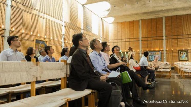Iglesia con cámaras de vigilancia en China