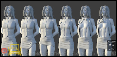 i13 Trendy Coffee Shop Barista Outfit for the Genesis 3 Female