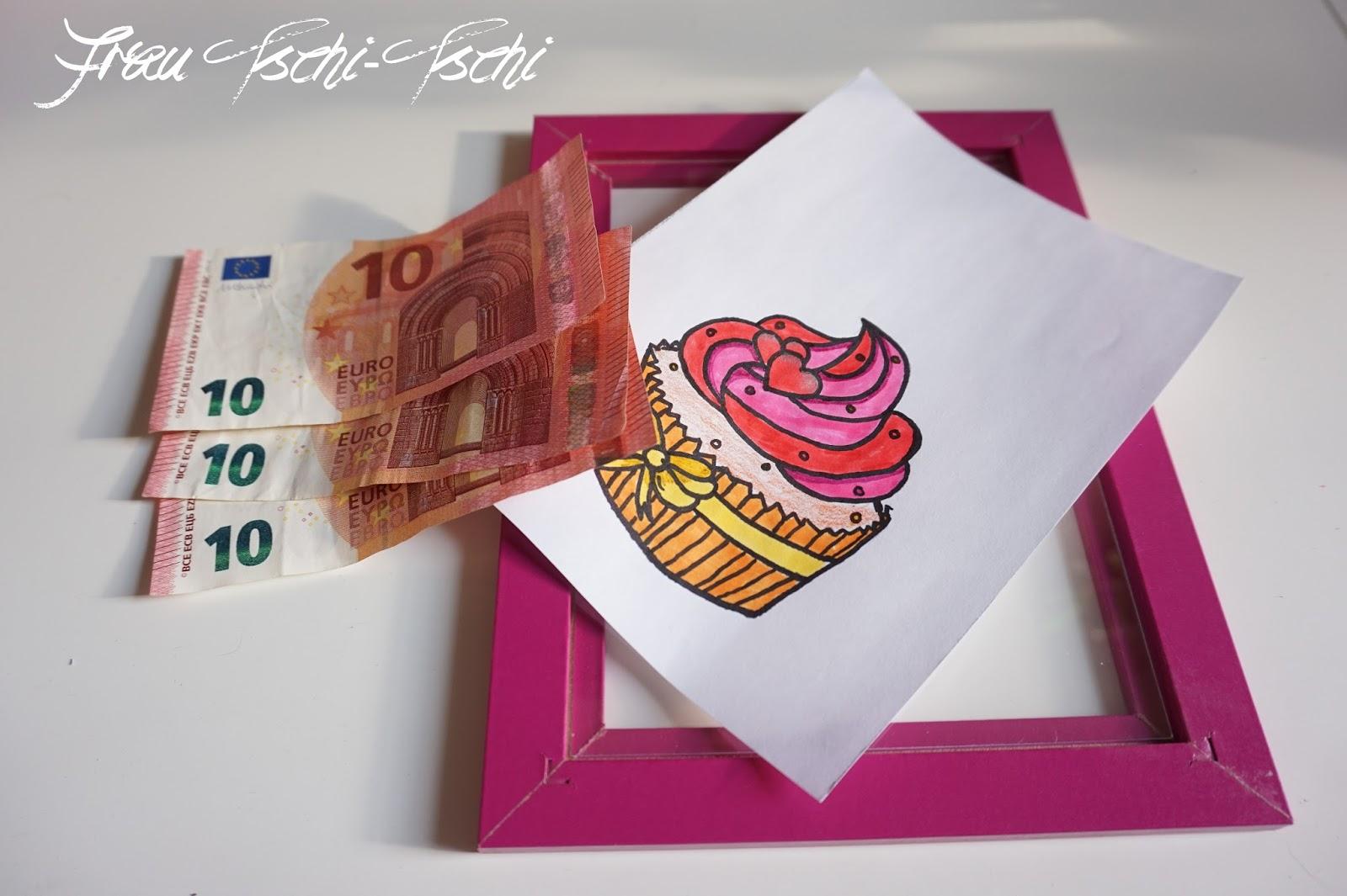 Frau Tschi Tschi Schnelles Geldgeschenk Im Bilderrahmen