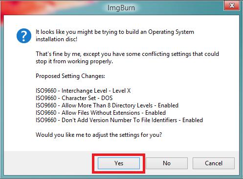 IMGBurn Windows XP