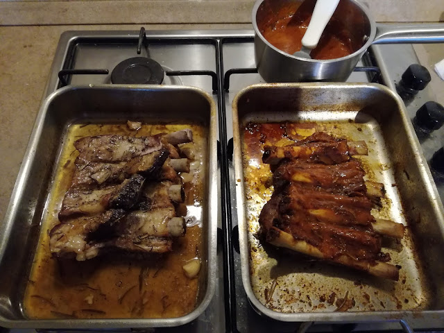 Cottura al forno delle ribs di maiale