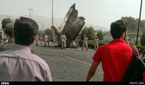 The small Iran-141 passenger plane, flight 5915, has crashed into a residential complex