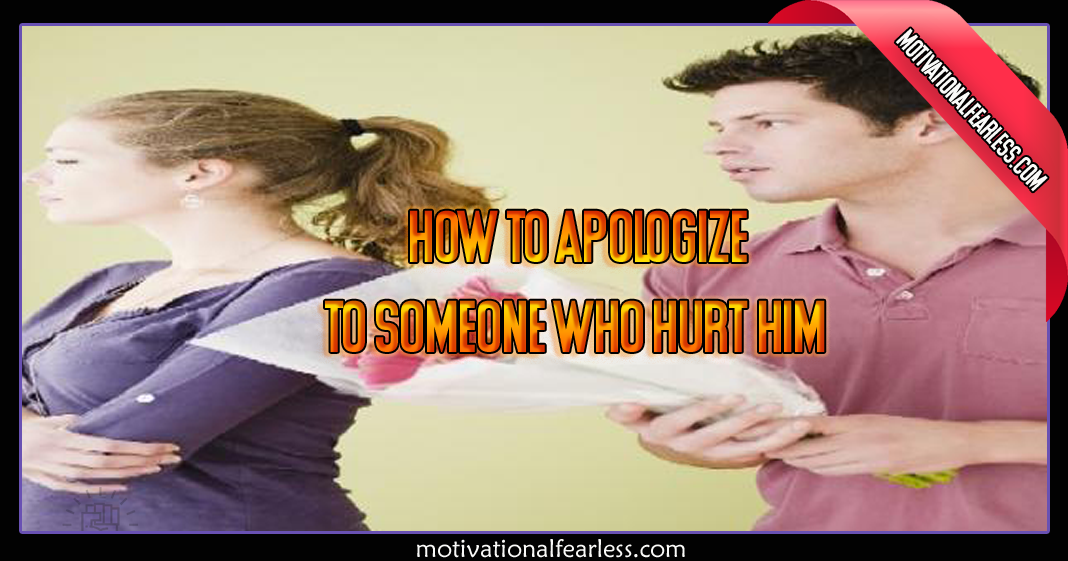 how to get him to apologize