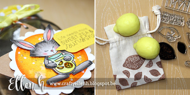 Sweet Tea and Sunshine Card by September Guest Designer Ellen Hax | Freshly Squeezed Stamp set by Newton's Nook Designs #newtonsnook