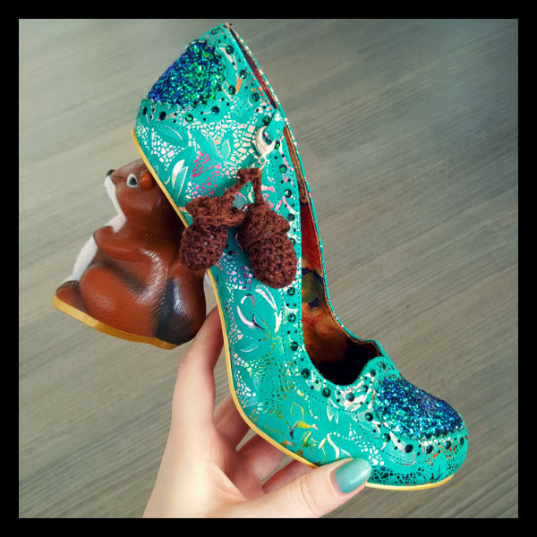 irregular choice green nibbles mcnutty squirrel heels