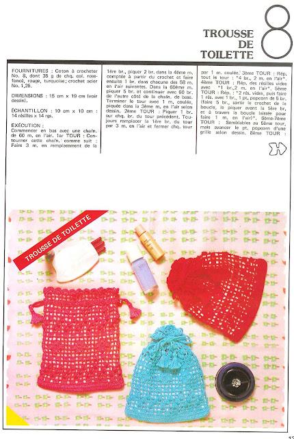 журнал 1000 Mailles № 31 03-1980 мешочек крючком