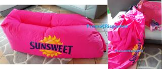 Logo Sunsweet : in consegna gli esclusivi set con poltrona gonfiabile