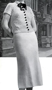 The Vintage Pattern Files: Free 1930's Knitting Pattern - Campus 2 Piece Velveen Suit