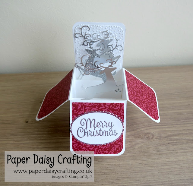 Pop up card in a box with detailed deer from Stampin Up