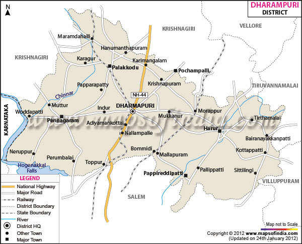 Tamilnadu Tourism: Dharmapuri - General Information