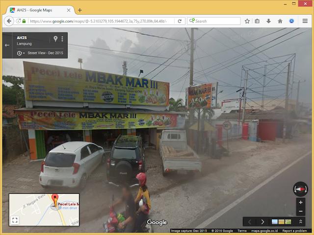 Pecel Lele Mbak Mar III Natar Lampung di Google Maps