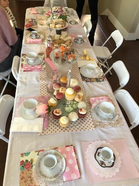 princess tea party set up
