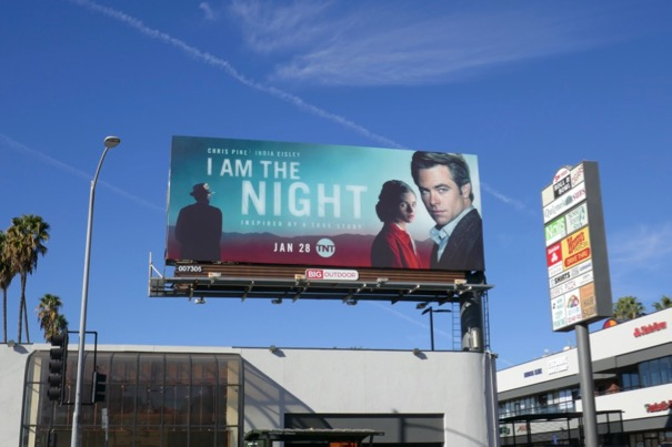 I Am the Night TV series billboard