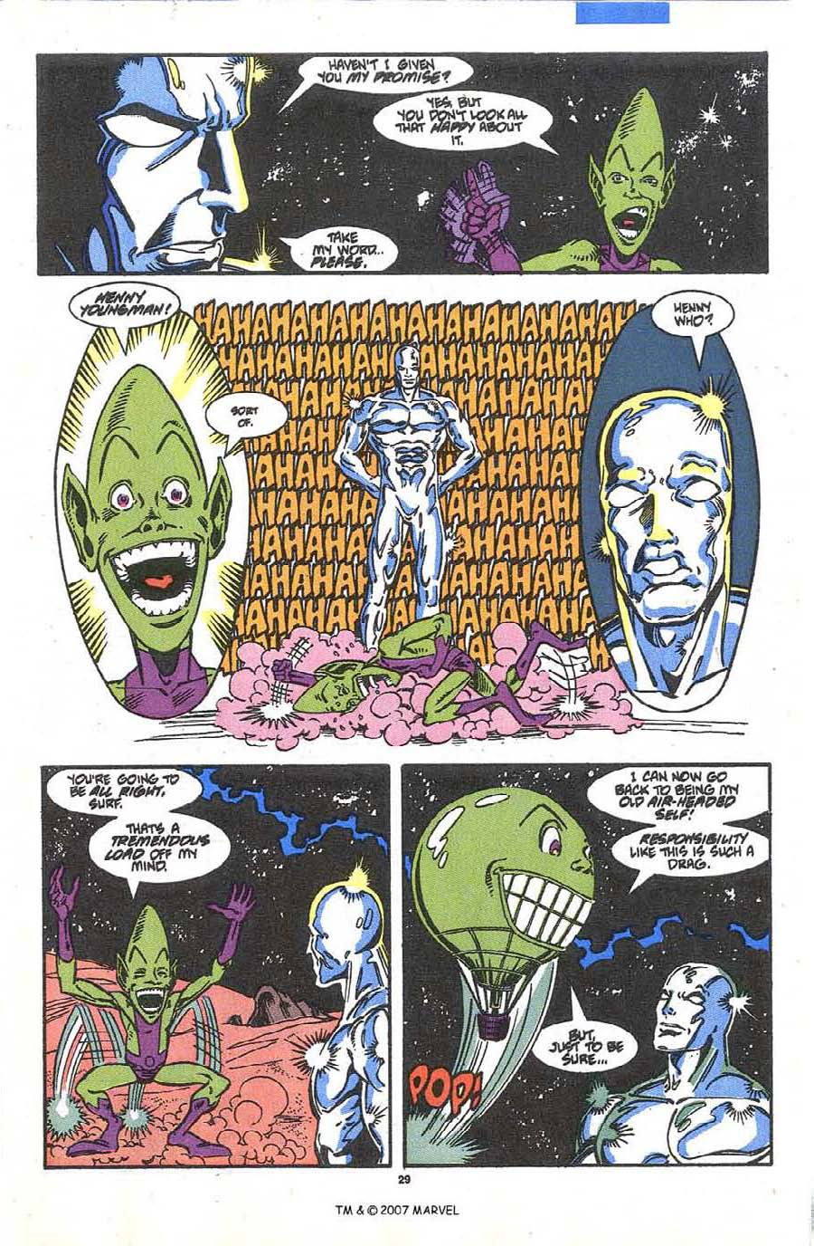 Read online Silver Surfer (1987) comic -  Issue #36 - 31
